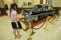 Chiang Kai Shek's bullet proof limos sits are displayed at the National Taiwan Democracy Memorial Hall, previously known as the Chiang Kai-Shek Memorial Hall. The name-change drive was pushed by President Chen Shui-bian who said that the name changes have restored historical truth and reflect the mainstream opinion of the Taiwanese people. However, the action has sparked strong criticism from the opposition, led by the Kuomintang (KMT), which favors improved ties with Beijing..18 Jun 2007