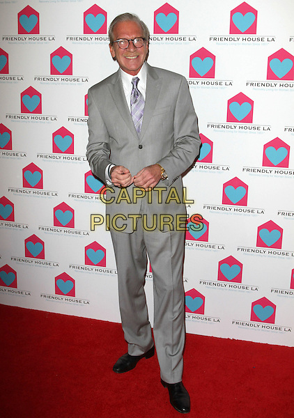 "Pat O'Brien.""Giving Back"" Friendly House LA's 22nd Annual Awards Luncheon Held At The Beverly Hilton hotel, Pacific Palisades, California, USA..October 29th, 2011.full length grey gray suit jacket purple tie glasses moustache mustache facial hair .CAP/ADM/KB.©Kevan Brooks/AdMedia/Capital Pictures."