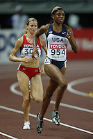 Hazel Clark ran 2:00.61sec. in the 1st. round of the 800m on Saturday, August 25, 2007. Photo by Errol Anderson,The Sporting Image.Assorted images of the 11th. World  Track and Field Championships held in Osaka, Japan.