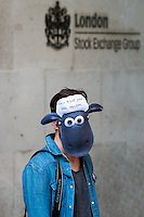 "26.09.2015 - ""Shaun The Sheep"" - Mark Thomas Demo at Paternoster Sq"