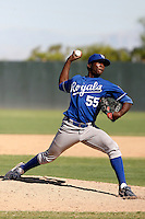Carlos Fortuna - Kansas City Royals 2009 Instructional League. .Photo by:  Bill Mitchell/Four Seam Images..