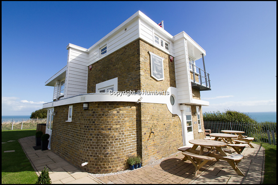"""BNPS.co.uk (01202 558833)Pic: Humberts/BNPS<br /> <br /> Bluebird Tea Rooms.<br /> <br /> A former coastguard station that played an important role in the Second World War and was visited by Sir Winston Churchill is now a tea room and holiday let business on the market for £1.5m.<br /> <br /> Bluebird Tea Rooms sits in a stunning position on top of the iconic White Cliffs of Dover with breathtaking panoramic views across the English Channel.<br /> <br /> The lookout post played an important part in Britain's defences during the Second World War and the underground operations room, built 35ft below the building, was visited by Churchill twice during the war.<br /> <br /> That room is now just used for storage but the building would make a great business for someone or could potentially become a stunning family home if permission was granted for change of use.<br /> <br /> The """"one of a kind"""" property is now on the market with Humberts."""