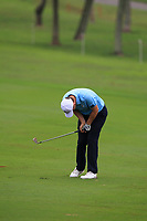 Bernd Wiesberger (Europe) on the 9th fairway during the Saturday Foursomes of the Eurasia Cup at Glenmarie Golf and Country Club on the 13th January 2018.<br /> Picture:  Thos Caffrey / www.golffile.ie