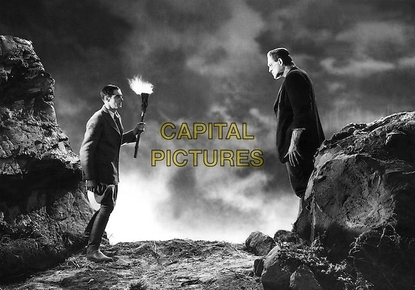 Colin Clive & Boris Karloff .in Frankenstein.*Filmstill - Editorial Use Only*.CAP/PLF.Supplied by Capital Pictures.
