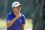 David Lipsky of USA shows his ball during the 58th UBS Hong Kong Golf Open as part of the European Tour on 11 December 2016, at the Hong Kong Golf Club, Fanling, Hong Kong, China. Photo by Marcio Rodrigo Machado / Power Sport Images