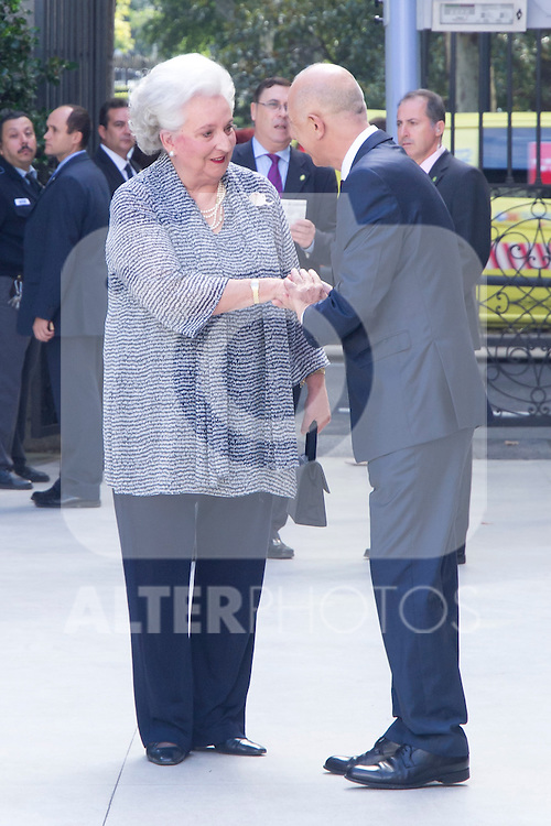 08.10.2012. Spanish Royals, Juan Carlos and Sofia, preside the ceremony commemorating the 20th anniversary of the Thyssen-Bornemisza Museum located in the Villahermosa Palace, in Madrid, Spain. In the image Princess Pilar de Borbon (Duchess of Badajoz). (Alterphotos/Marta Gonzalez)