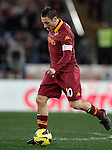 Calcio, Serie A: Roma vs Milan. Roma, stadio Olimpico, 22 dicembre 2012..AS Roma forward Francesco Totti in action during the Italian Serie A football match between AS Roma and AC Milan at Rome's Olympic stadium, 22 December 2012.UPDATE IMAGES PRESS/Riccardo De Luca