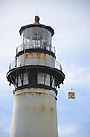 Pigeon Point Lighthouse, lowering fresnel lens