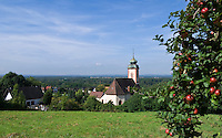 Germany, Baden-Wuerttemberg, Markgraefler Land, Bad Bellingen, overview