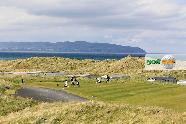 Looking across to Greencastle from the 18th tee during Round 1 of the Ulster Boys Championship at Castlerock Golf Club on Tuesday 30th June 2015.<br /> Picture:  Golffile | Thos Caffrey