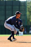Infielder Rio Ruiz (78) of the Atlanta Braves farm system in a Minor League Spring Training workout on Tuesday, March 17, 2015, at the ESPN Wide World of Sports Complex in Lake Buena Vista, Florida. (Tom Priddy/Four Seam Images)