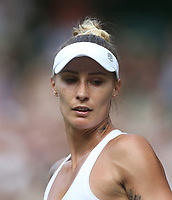 Polona Hercog (SLO) during her match against Cori Gauff (USA) in their Ladies' Singles Third Round match<br /> <br /> Photographer Rob Newell/CameraSport<br /> <br /> Wimbledon Lawn Tennis Championships - Day 5 - Friday 5th July 2019 -  All England Lawn Tennis and Croquet Club - Wimbledon - London - England<br /> <br /> World Copyright © 2019 CameraSport. All rights reserved. 43 Linden Ave. Countesthorpe. Leicester. England. LE8 5PG - Tel: +44 (0) 116 277 4147 - admin@camerasport.com - www.camerasport.com
