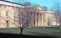 "Cambridge: Downing College, The Master's Lodge 1807-1813. William Wilkins, Arch. Earliest sign of ""pure"" Classical Revival at Cambridge. Photo '90."
