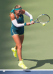 Victoria Azarenka (BLR) splits the first two sets with Simone Halep (ROU) 3-6, 6-4 at the US Open in Flushing, NY on September 9, 2015.