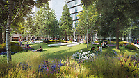 BNPS.co.uk (01202 558833)<br /> Pic: SothebysRealty/BNPS<br /> <br /> Gardens in the heart of the business landscape.<br /> <br /> Is this the best view in London ...<br /> <br /> A stunning apartment offering a breathtaking panorama of the nation's capital has emerged for sale for £900,000.<br /> <br /> The stylish one bedroom flat is located on the 43rd floor of the new-build 704ft Valiant Tower in South Quay Plaza in Canary Wharf.<br /> <br /> It overlooks Greenwich and the River Thames, with London's major landmarks on display.<br /> <br /> The building has a rooftop terrace, a swimming pool and a gym, and is surrounded by waterside gardens.<br /> <br /> The flat is being sold with estate agent Sotheby's International Realty.
