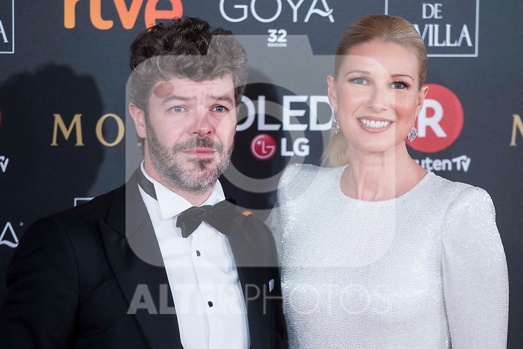 Pablo Heras and Anne Igartiburu attends red carpet of Goya Cinema Awards 2018 at Madrid Marriott Auditorium in Madrid , Spain. February 03, 2018. (ALTERPHOTOS/Borja B.Hojas)