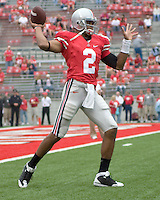 September 27, 2008: Ohio State quarterback Terrelle Pryor (2). The Ohio State Buckeyes defeated the Minnesota Gophers 34-21 on September 27, 2008 at Ohio Stadium, Columbus, Ohio.