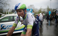 Michael Albasini (SUI/Orica-GreenEDGE) arriving at the teambus after the race<br /> <br /> 101th Liège-Bastogne-Liège 2015