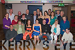 KEY OF THE DOOR: Lisa O'Connor frrom Kilflynn with her family and friends who celebrtaed her 21st birthday in the Abbey Inn, Tralee on Saturday night.(lisa is seated centre)..