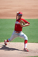 Philadelphia Phillies pitcher Kevin Gowdy (34) during an Instructional League game against the New York Yankees on September 27, 2016 at Bright House Field in Clearwater, Florida.  (Mike Janes/Four Seam Images)