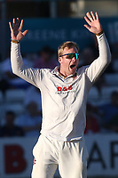 Simon Harmer of Essex appeals for a wicket during Essex CCC vs Somerset CCC, Specsavers County Championship Division 1 Cricket at The Cloudfm County Ground on 26th June 2018
