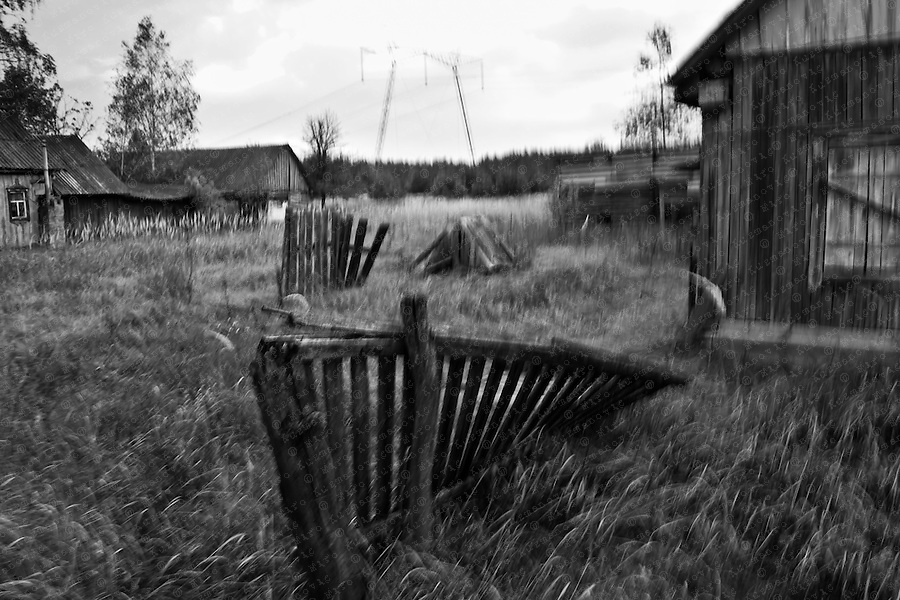 a half-deserted village near Chernobyl
