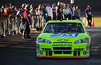 Feb 29, 2008; Las Vegas, NV, USA; NASCAR Sprint Cup Series driver Paul Menard during qualifying for the UAW Dodge 400 at Las Vegas Motor Speedway. Mandatory Credit: Mark J. Rebilas-