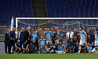 Football, Serie A: S.S. Lazio - Cagliari, Olympic stadium, Rome, July 23, 2020. <br /> Lazio's team pose for a group picture after winning 2-1 the Italian Serie A football match between Lazio and Cagliari at Rome's Olympic stadium, Rome, on July 23, 2020. <br /> UPDATE IMAGES PRESS/Isabella Bonotto