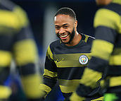 6th February 2019, Goodison Park, Liverpool, England; EPL Premier League Football, Everton versus Manchester City; Raheem Sterling of Manchester City warms up before the match