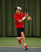 Rotterdam, The Netherlands, 15.03.2014. NOJK 14 and 18 years ,National Indoor Juniors Championships of 2014, Amadatus Admiraal (NED)  <br /> Photo:Tennisimages/Henk Koster