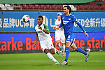 v.l. Carlos GRUEZO (A) und Florian GRILLITSCH (1899)<br /> <br /> Sport: Fussball: 1. Bundesliga: Saison 19/20: 32. Spieltag, 17.06.2020.<br /> FC Augsburg (A) - TSG 1899 Hoffenheim (1899) <br /> Foto: Frank Hoermann/FOTOAGENTUR SVEN SIMON/POOL/PIX-Sportfotos<br /> <br /> Nur fuer journalistische Zwecke! <br /> Only for editorial use!<br /> <br /> DFL regulations prohibit any use of photographs as image sequences and/or quasi-video.<br /> National and International News Agencies OUT<br /> NO RESALE!