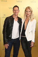 Brendan Cole, wife Zoe Hobbs at the Myla 15th anniversary party, London. 22/10/2014 Picture by: James Smith / Featureflash