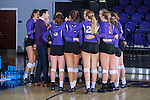 High Point Panthers head coach Tom Mendoza speaks to his team prior to the start of their match against the Liberty Flames at the Millis Athletic Center on September 23, 2016 in High Point, North Carolina.  The Panthers defeated the Flames 3-1.   (Brian Westerholt/Sports On Film)