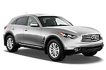Passenger side front three quarter view of a 2013 Infiniti FX 37 RWD.