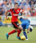 Lee Wallace wrongfoots Alex Harris