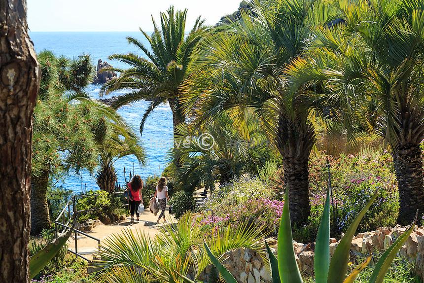 Espagne, Catalogne, Costa Brava, Blanes, Jardin botanique Marimurtra  // Spain, Catalonia, Costa Brava, Blanes, Marimurtra Botanical Garden