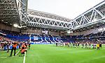 Stockholm 2014-04-16 Fotboll Allsvenskan Djurg&aring;rdens IF - AIK :  <br /> Vy &ouml;ver Tele2 Arena n&auml;r Djurg&aring;rdens supportrar har ett tifo innan matchen<br /> (Foto: Kenta J&ouml;nsson) Nyckelord:  Djurg&aring;rden DIF Tele2 Arena AIK supporter fans publik supporters inomhus interi&ouml;r interior