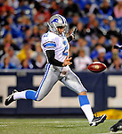 28 August 2008:  Detroit Lions' punter Nick Harris in action against the Buffalo Bills at Ralph Wilson Stadium in Orchard Park, NY. The Lions defeated the Bills 14-6 in their fourth and final pre-season game...Mandatory Photo Credit: Ed Wolfstein Photo