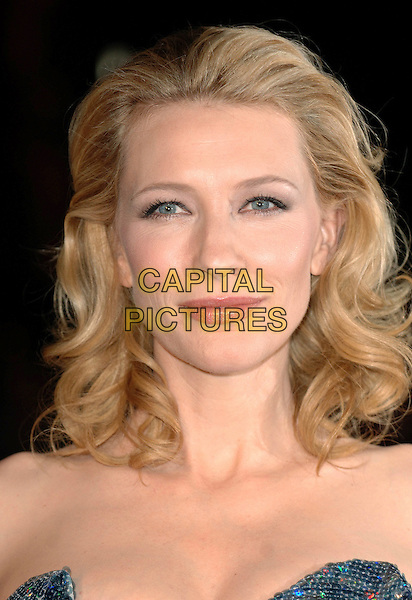 "CATE BLANCHETT.Attending the UK Premiere of ""Elizabeth: The Golden Age"", Odeon Leicester Square, London, England..October 23rd, 2007 .headshot portrait strapless .CAP/ BEL.©Tom Belcher/Capital Pictures."