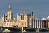 Westminster Bridge and Houses of Parliament, London, England