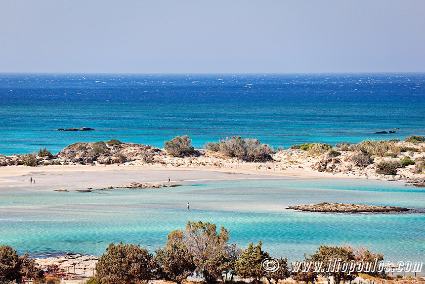 The beach of exotic Elafonissos in Crete, Greece