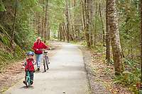 Bicycle riders on the Banks Vernonia Trail, in Oregon