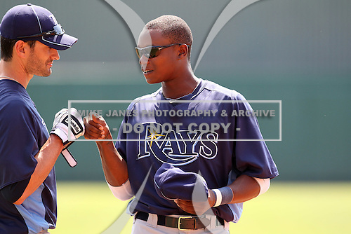 Tampa Bay Rays Tim Beckham #64 during a game vs. the Netherlands for an exhibition game at Al Lang Field in St. Petersburg, Florida;  March 9, 2011.  Tampa Bay defeated Netherlands 4-3.  Photo By Mike Janes/Four Seam Images