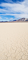 Dry lake bed of the Devil's Racetrack playa, Death Valley national park, California