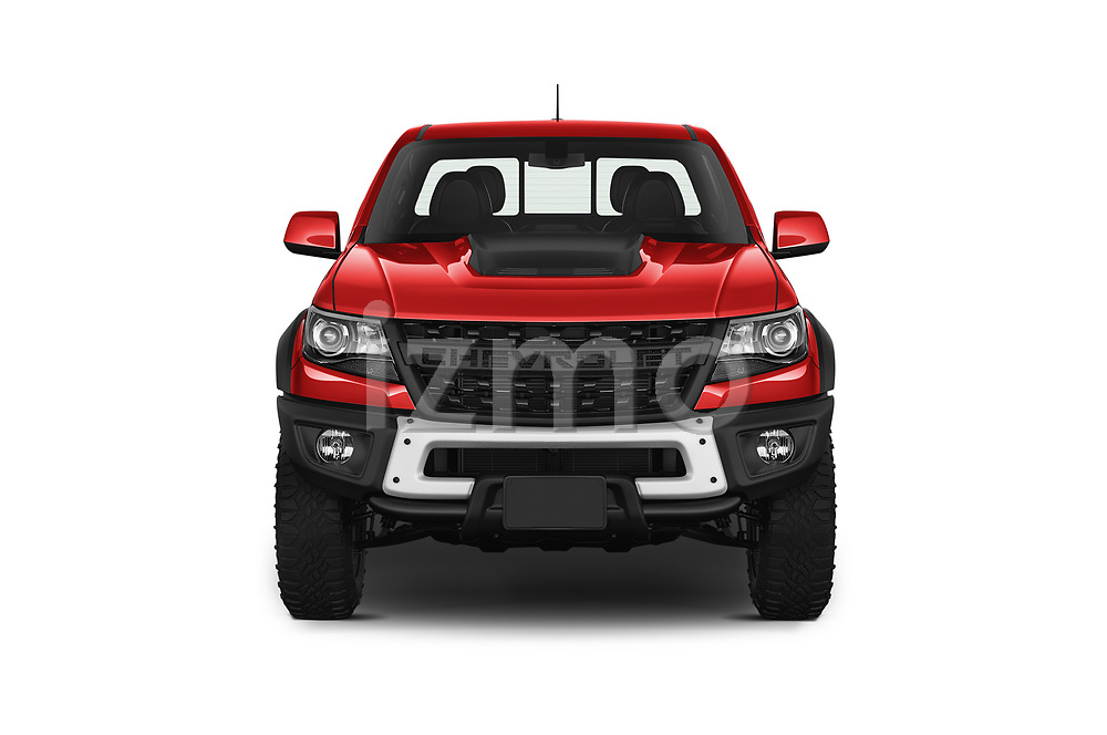 Car photography straight front view of a 2019 Chevrolet Colorado ZR2 4 Door Pick Up