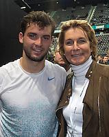 14-02-13, Tennis, Rotterdam, ABNAMROWTT,  Grigor Dimitrov  with Marcella Mesker
