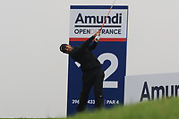 Shubhankar Sharma (IND) on the 12th tee during Round 4 of the Amundi Open de France 2019 at Le Golf National, Versailles, France 20/10/2019.<br /> Picture Thos Caffrey / Golffile.ie<br /> <br /> All photo usage must carry mandatory copyright credit (© Golffile | Thos Caffrey)