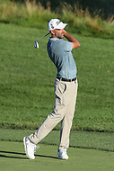 Bethesda, MD - July 1, 2017: Geoff Oglivy hits his second shot during Round 3 of professional play at the Quicken Loans National Tournament at TPC Potomac in Bethesda, MD, July 1, 2017.  (Photo by Elliott Brown/Media Images International)