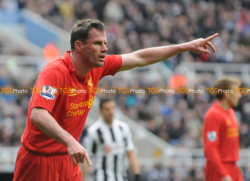 Jamie Carragher of Liverpool - Newcastle United vs Liverpool - Barclays Premier League Football at St James Park, Newcastle upon Tyne - 27/04/13 - MANDATORY CREDIT: Steven White/TGSPHOTO - Self billing applies where appropriate - 0845 094 6026 - contact@tgsphoto.co.uk - NO UNPAID USE