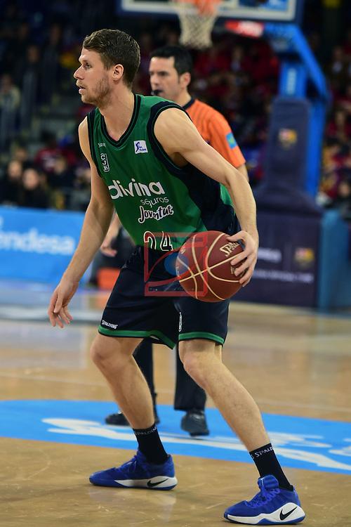 League ACB-ENDESA 2016/2017 - Game: 13.<br /> FC Barcelona Lassa vs Divina seguros Joventut: 79-77.<br /> Luka Lapornik.